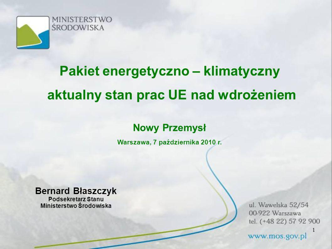 Pakiet energetyczno – klimatyczny aktualny stan prac UE nad wdrożeniem