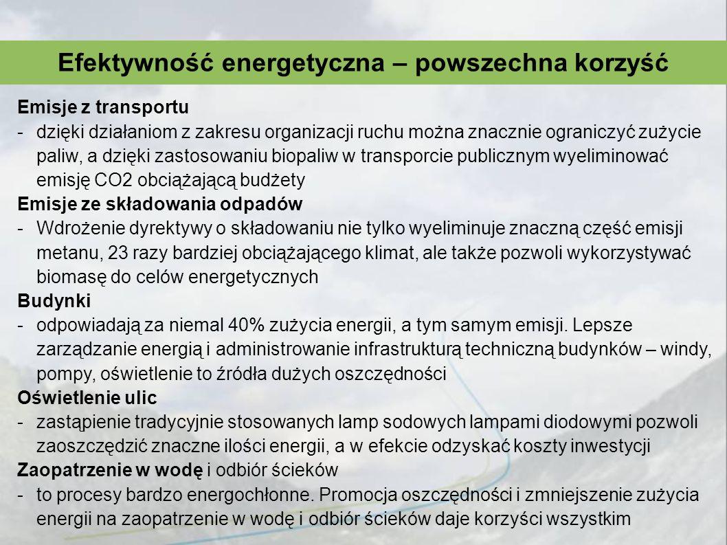 Efektywność energetyczna – powszechna korzyść