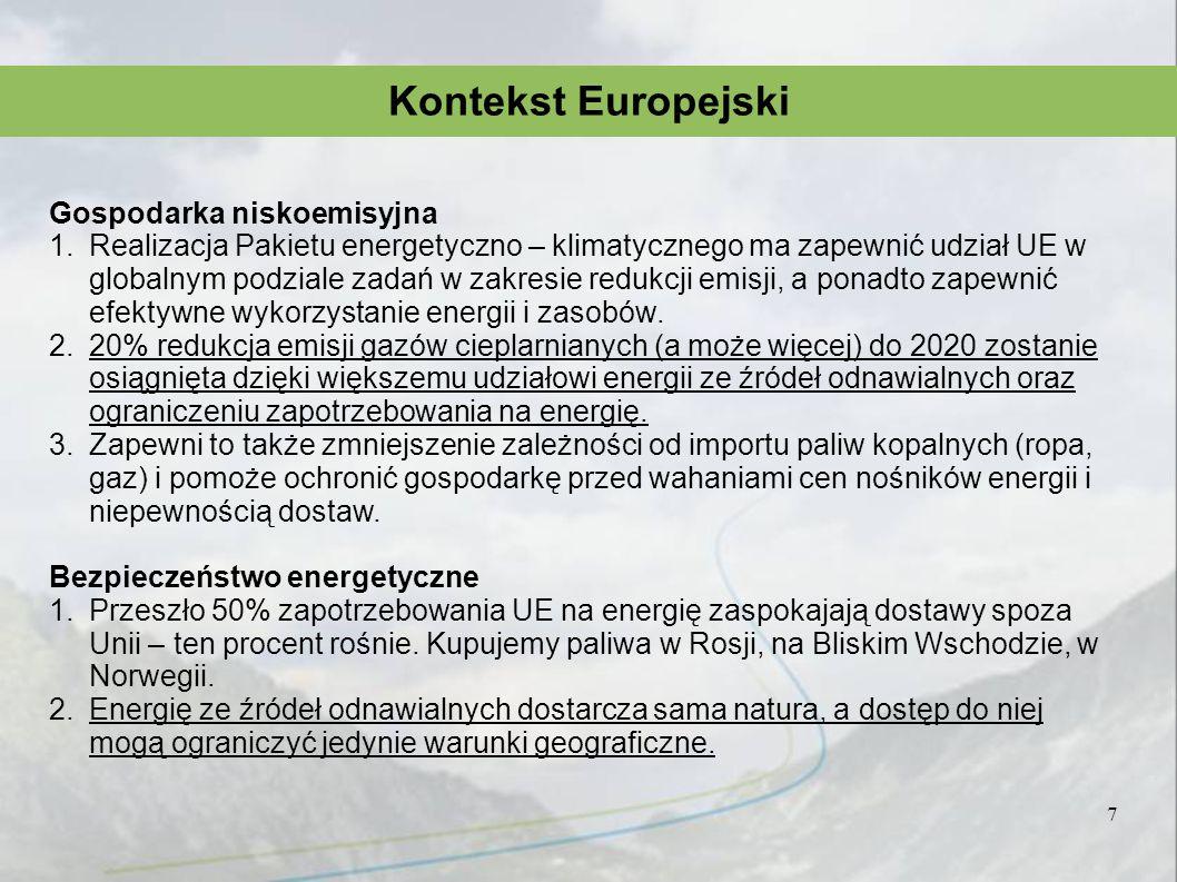Kontekst Europejski Gospodarka niskoemisyjna