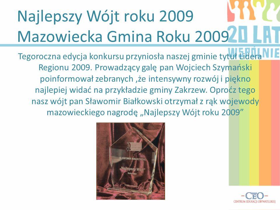 Najlepszy Wójt roku 2009 Mazowiecka Gmina Roku 2009