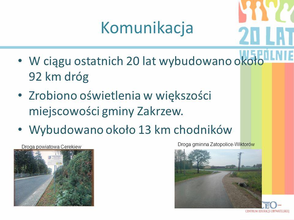 Komunikacja W ciągu ostatnich 20 lat wybudowano około 92 km dróg