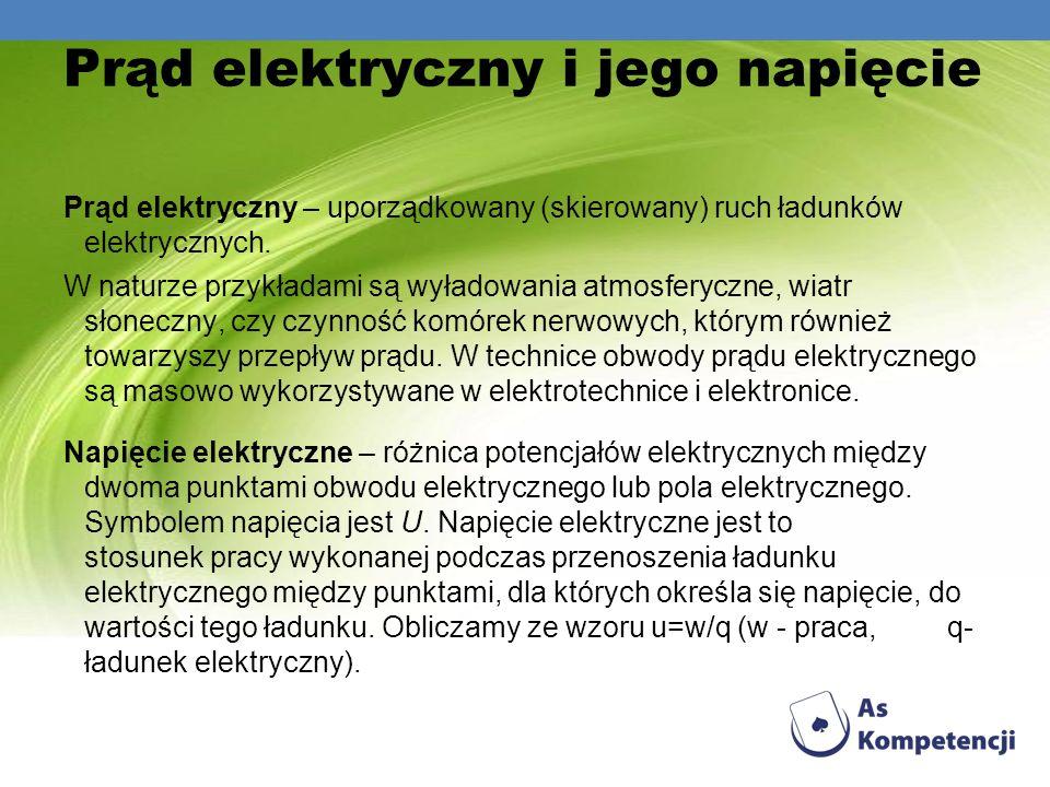 Prąd elektryczny i jego napięcie