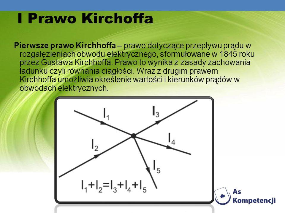 I Prawo Kirchoffa