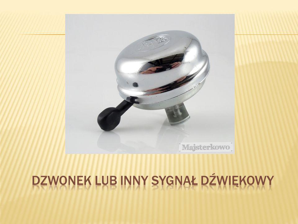 Dzwonek lub inny sygnał dźwiękowy