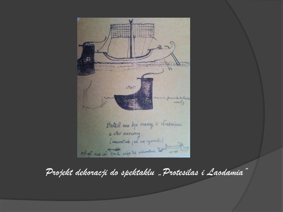 """Projekt dekoracji do spektaklu """"Protesilas i Laodamia"""