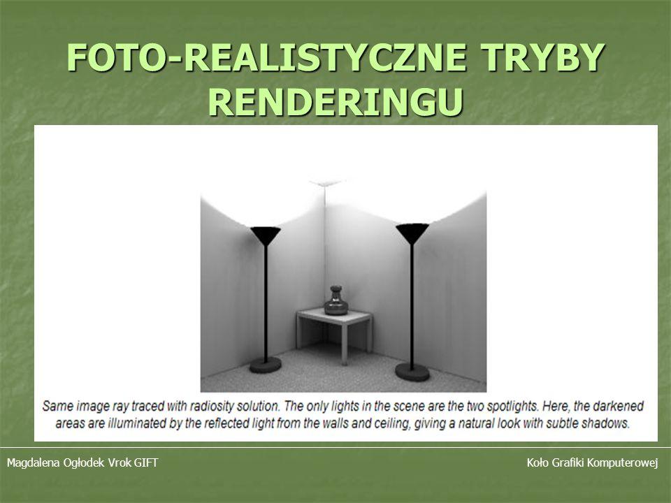 FOTO-REALISTYCZNE TRYBY RENDERINGU