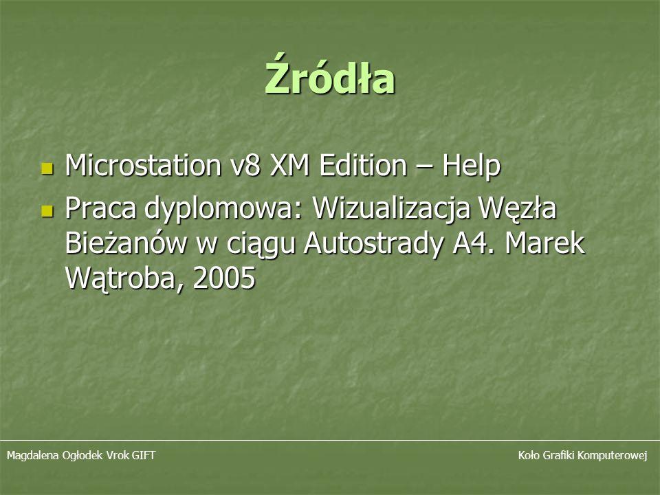 Źródła Microstation v8 XM Edition – Help