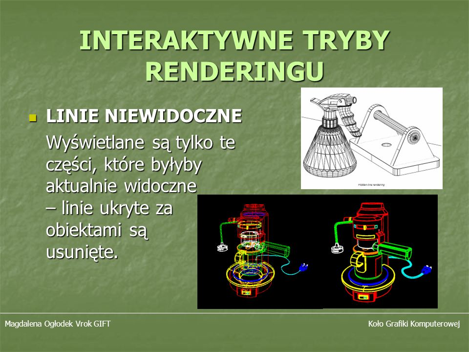 INTERAKTYWNE TRYBY RENDERINGU