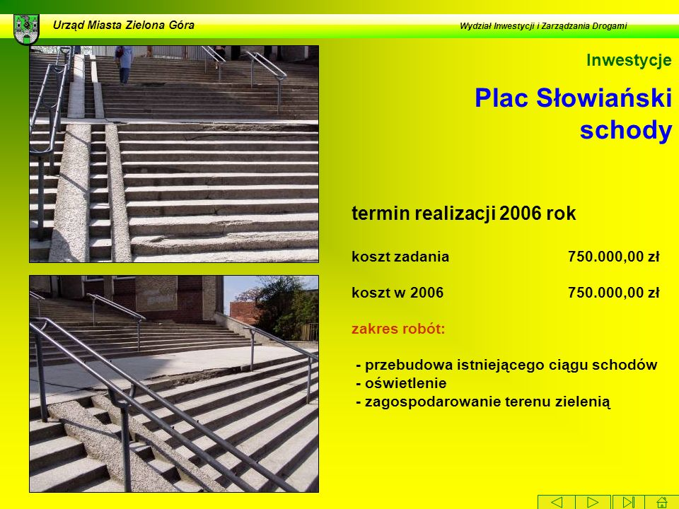 Plac Słowiański schody