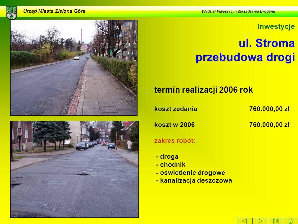 ul. Stroma przebudowa drogi