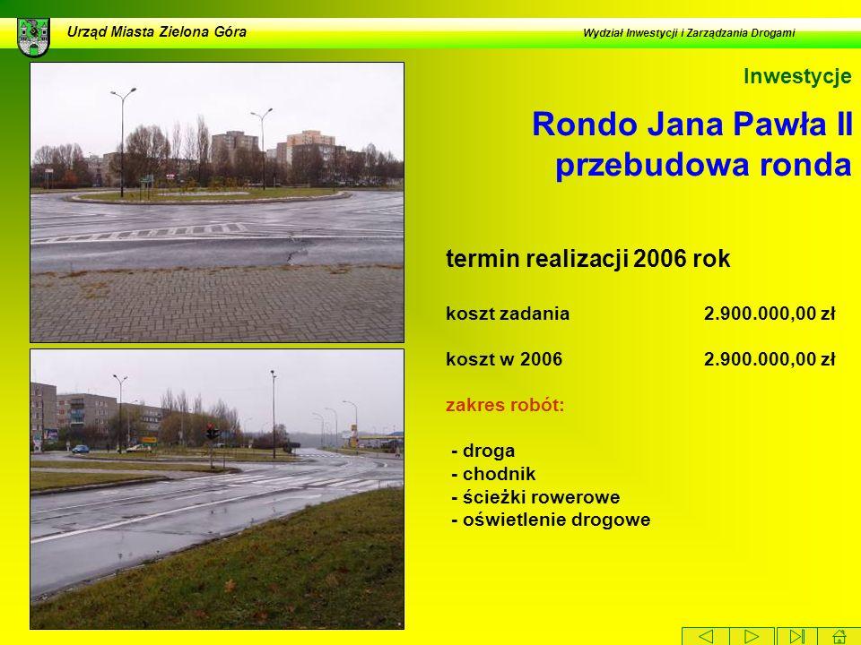 Rondo Jana Pawła II przebudowa ronda