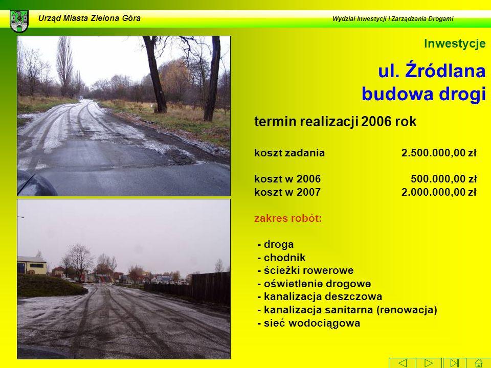 ul. Źródlana budowa drogi
