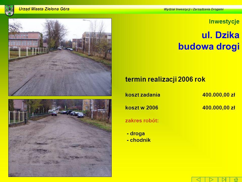 Urząd Miasta Zielona Góra Wydział Inwestycji i Zarządzania Drogami