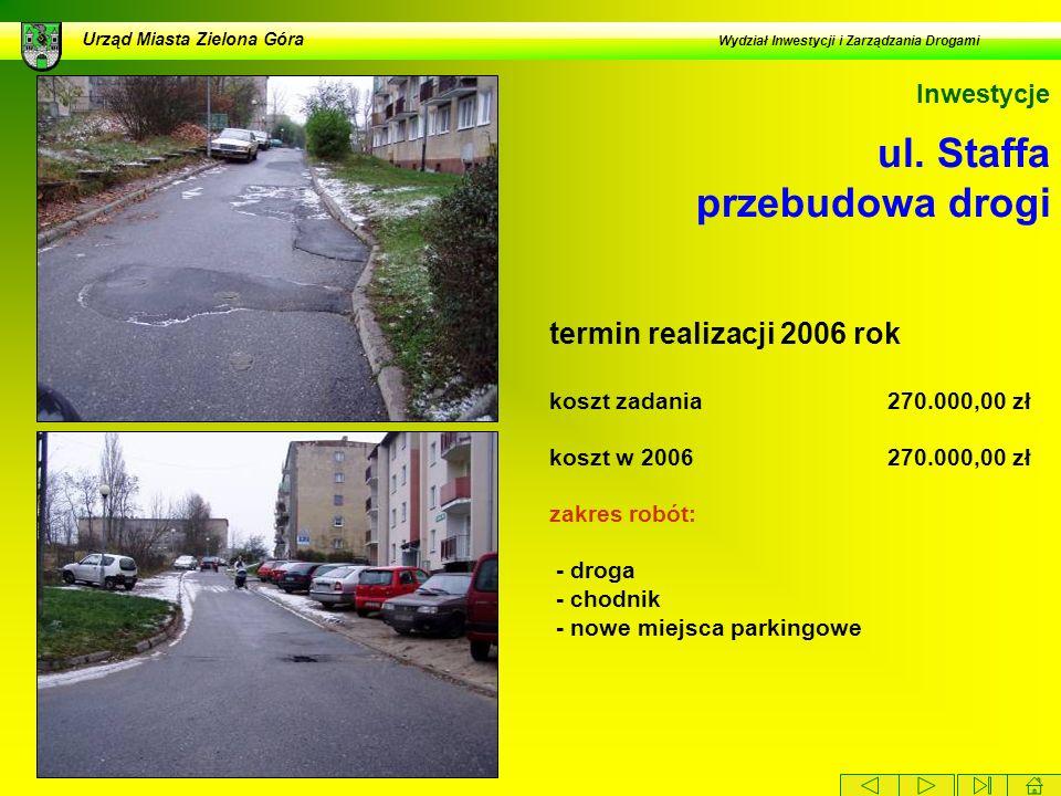 ul. Staffa przebudowa drogi