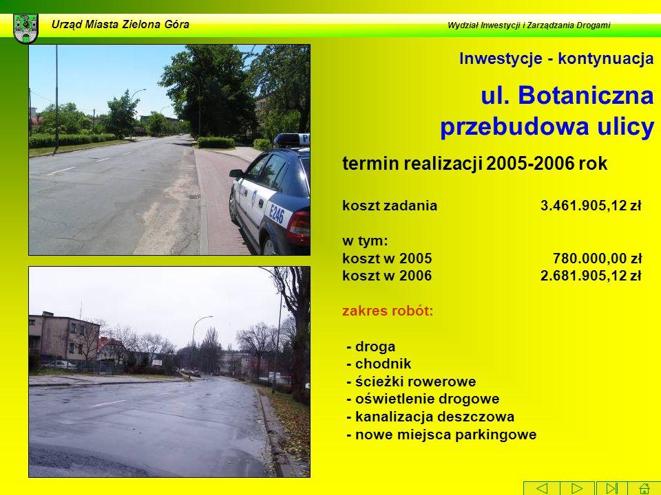 ul. Botaniczna przebudowa ulicy