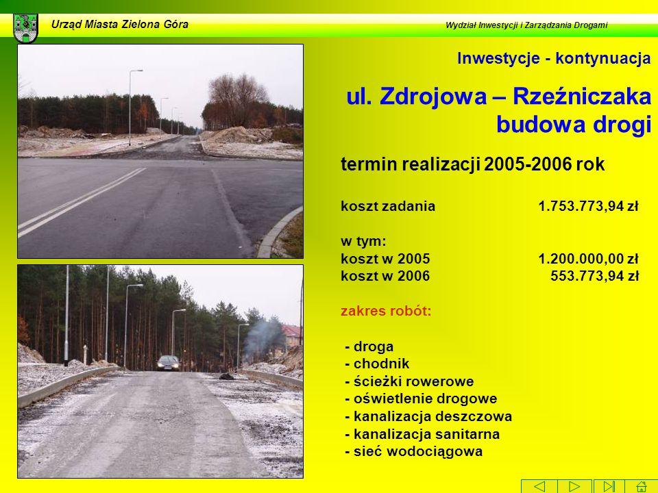 ul. Zdrojowa – Rzeźniczaka budowa drogi