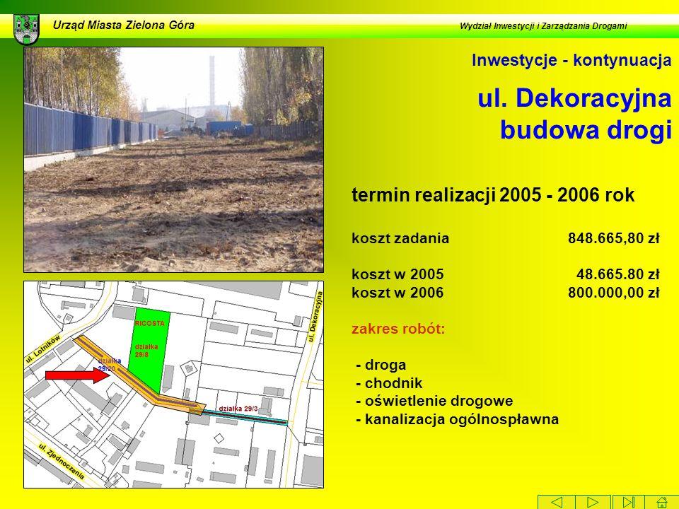 ul. Dekoracyjna budowa drogi