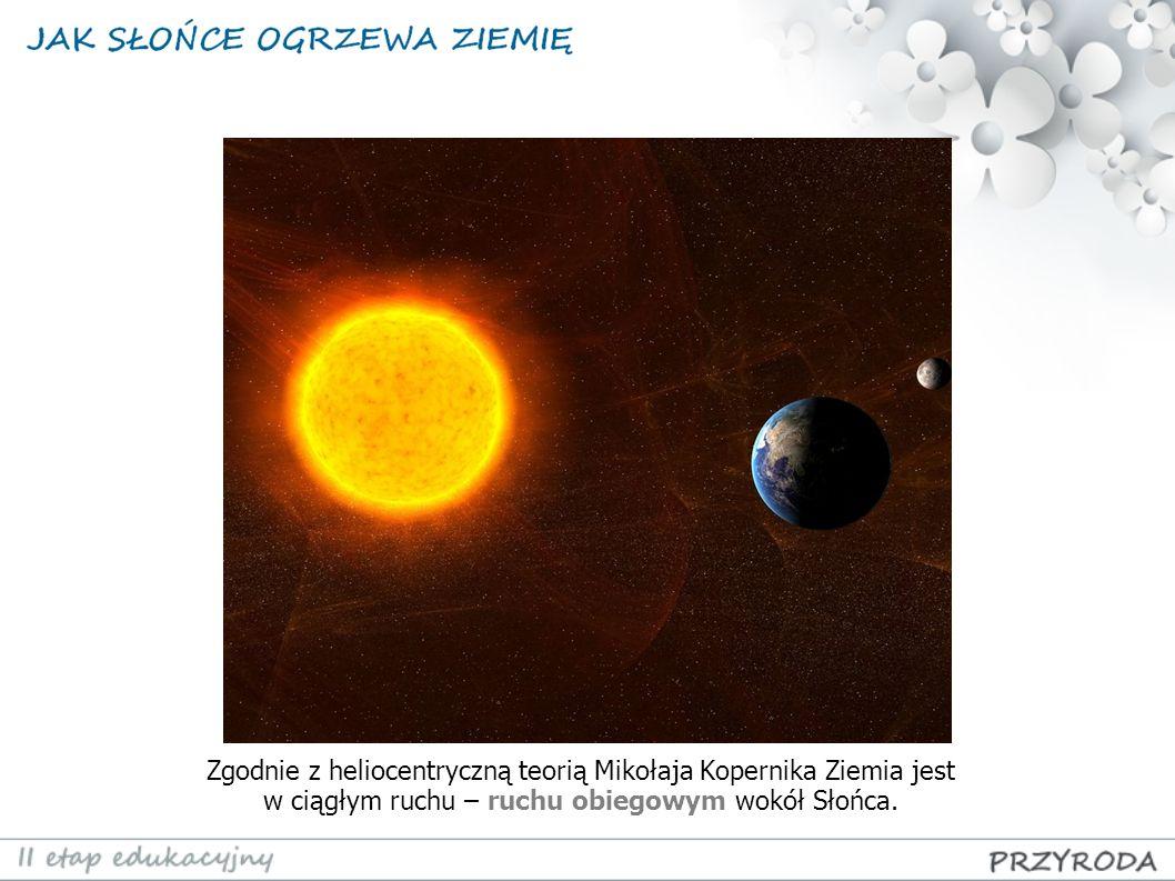 Zgodnie z heliocentryczną teorią Mikołaja Kopernika Ziemia jest w ciągłym ruchu – ruchu obiegowym wokół Słońca.