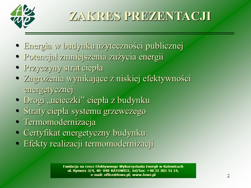 e-mail: office@fewe.pl; www.fewe.pl