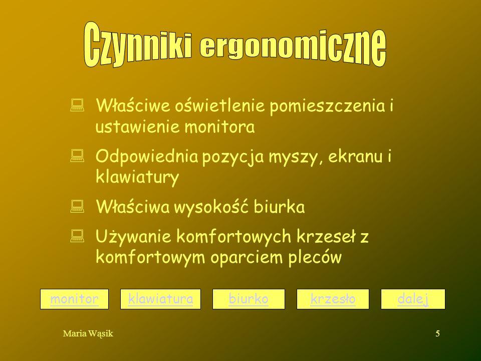Czynniki ergonomiczne
