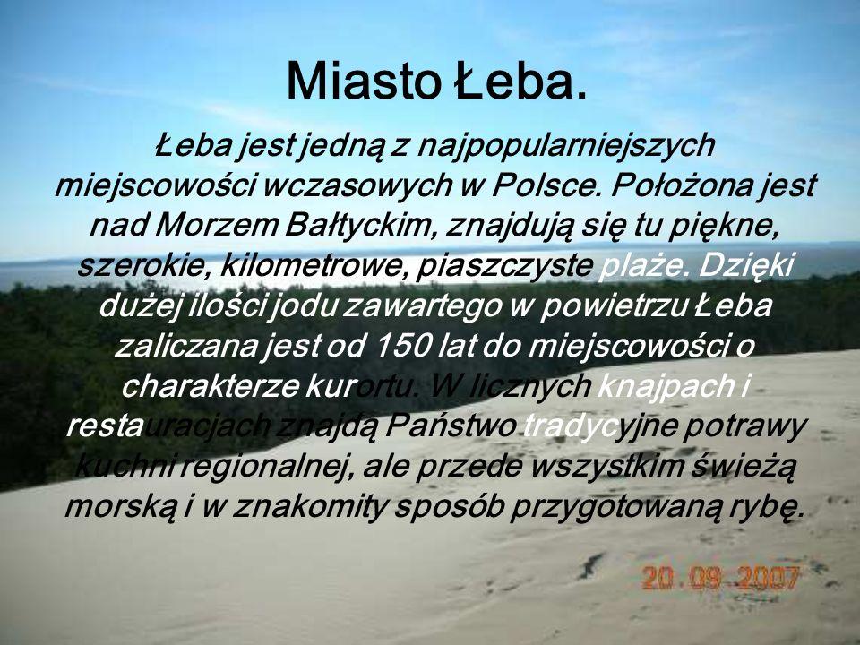 Miasto Łeba.