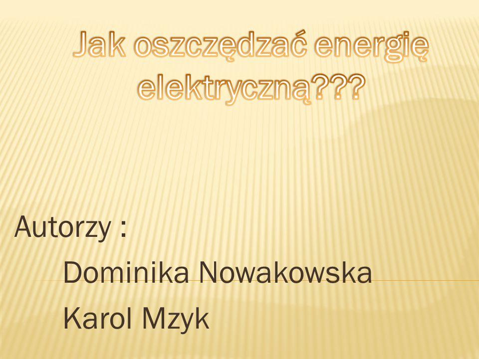 Autorzy : Dominika Nowakowska Karol Mzyk