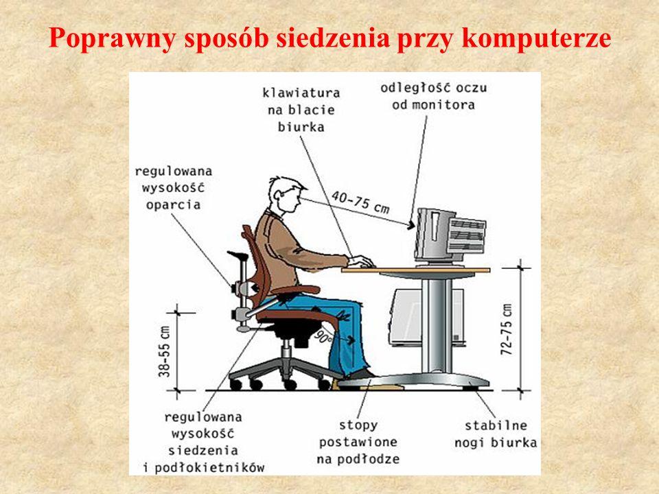 Poprawny sposób siedzenia przy komputerze