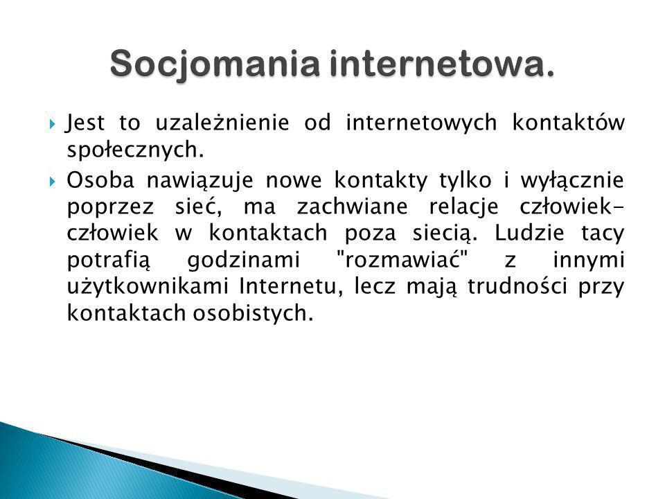 Socjomania internetowa.