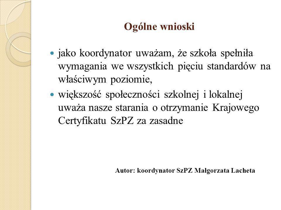Autor: koordynator SzPZ Małgorzata Lacheta