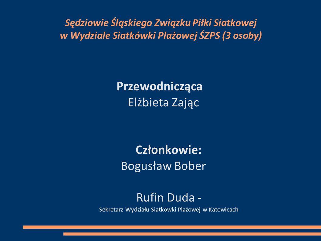 Rufin Duda - Sekretarz Wydziału Siatkówki Plażowej w Katowicach