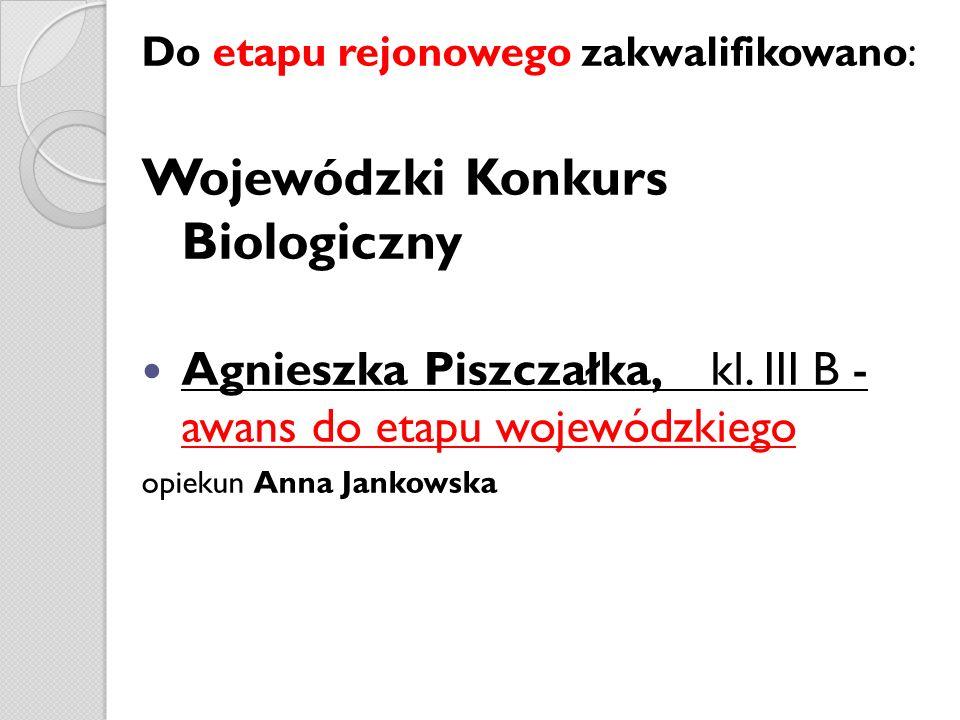 Wojewódzki Konkurs Biologiczny