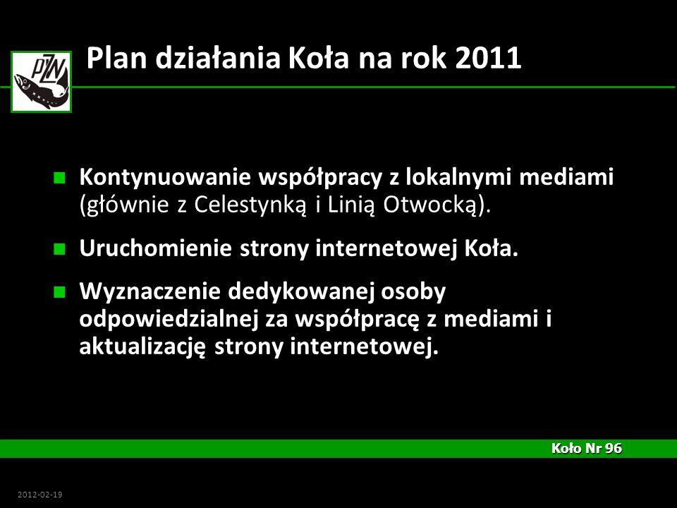 Plan działania Koła na rok 2011