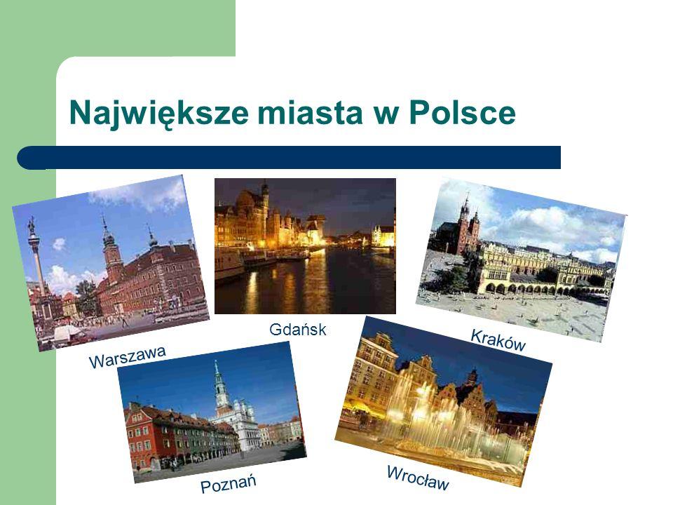 Największe miasta w Polsce