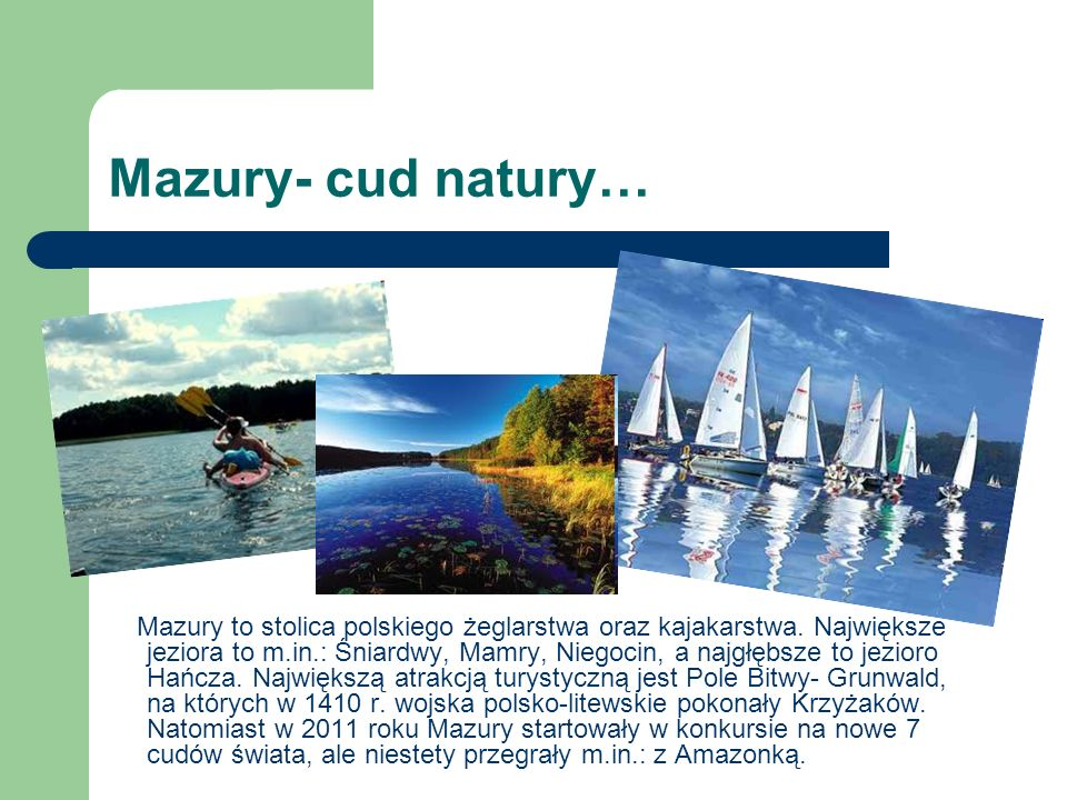 Mazury- cud natury…