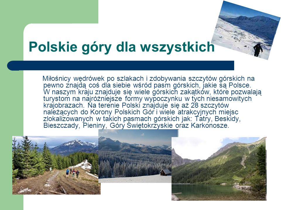 Polskie góry dla wszystkich