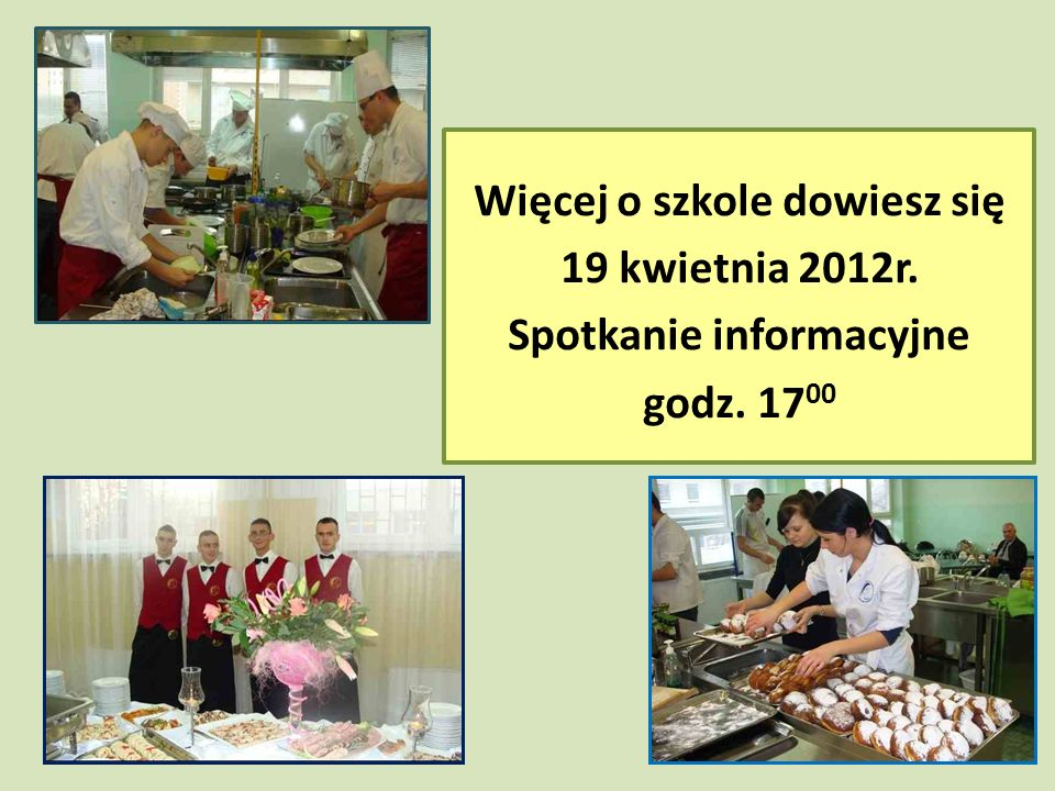Więcej o szkole dowiesz się 19 kwietnia 2012r