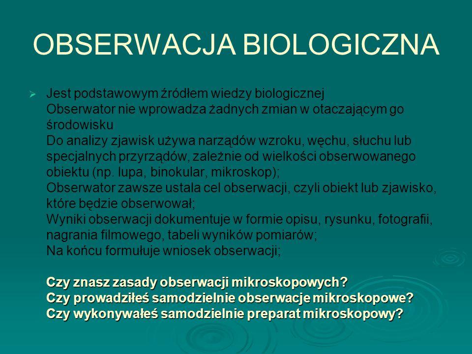 OBSERWACJA BIOLOGICZNA