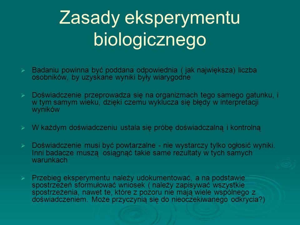 Zasady eksperymentu biologicznego