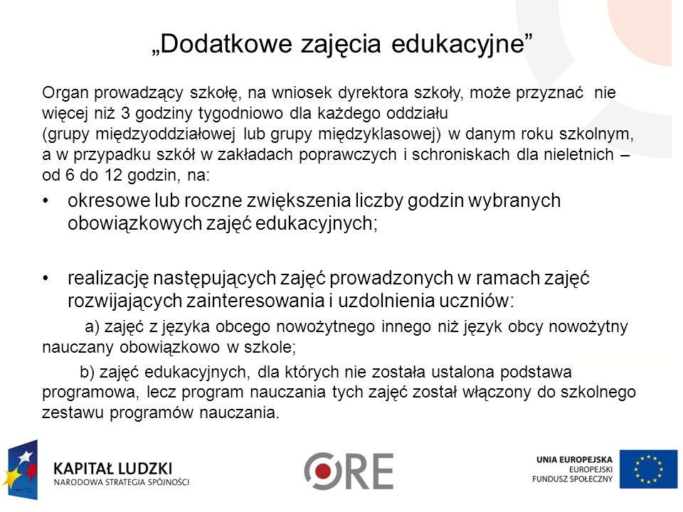 """""""Dodatkowe zajęcia edukacyjne"""