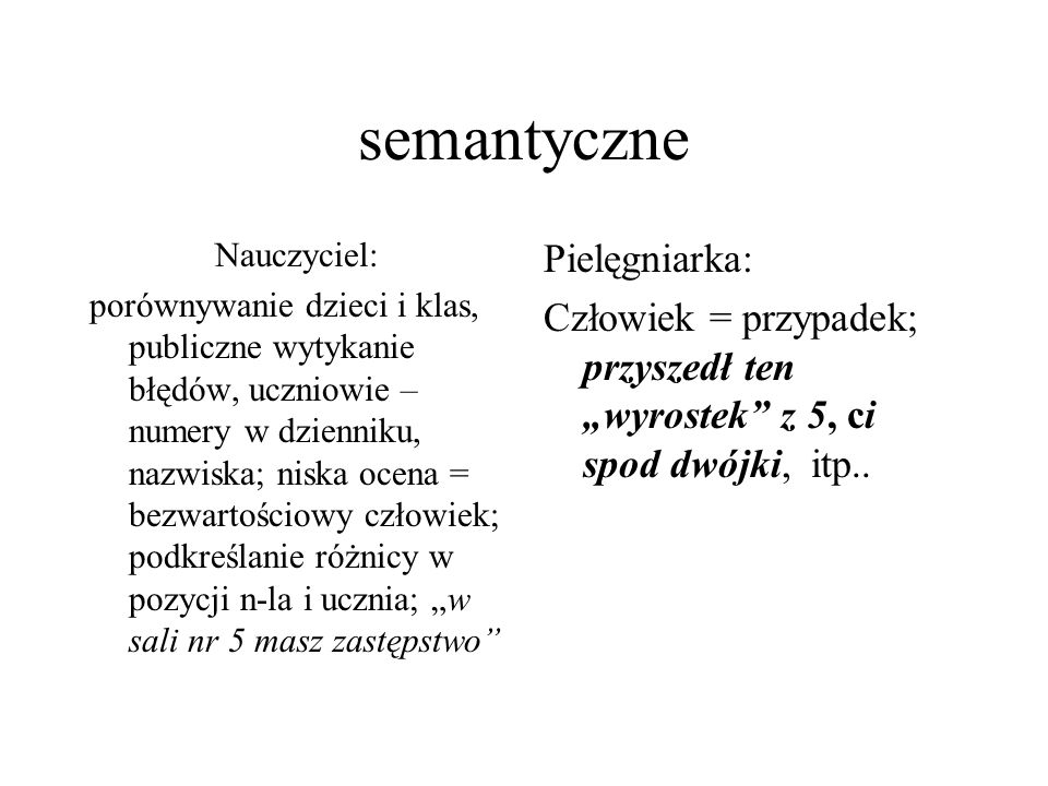 semantyczne Pielęgniarka: