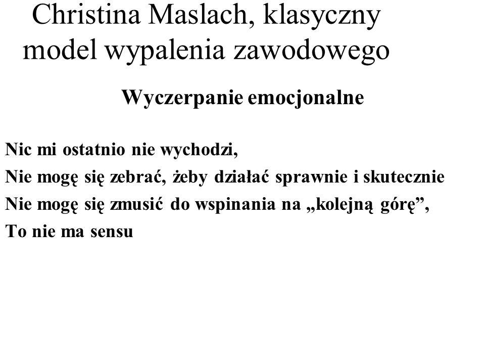 Christina Maslach, klasyczny model wypalenia zawodowego