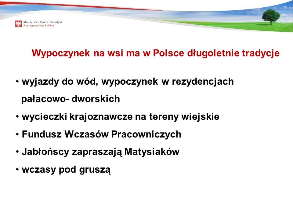 Wypoczynek na wsi ma w Polsce długoletnie tradycje