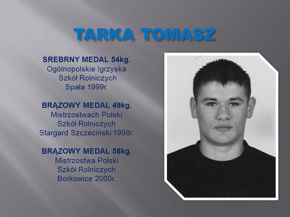 TARKA TOMASZ SREBRNY MEDAL 54kg. Ogólnopolskie Igrzyska