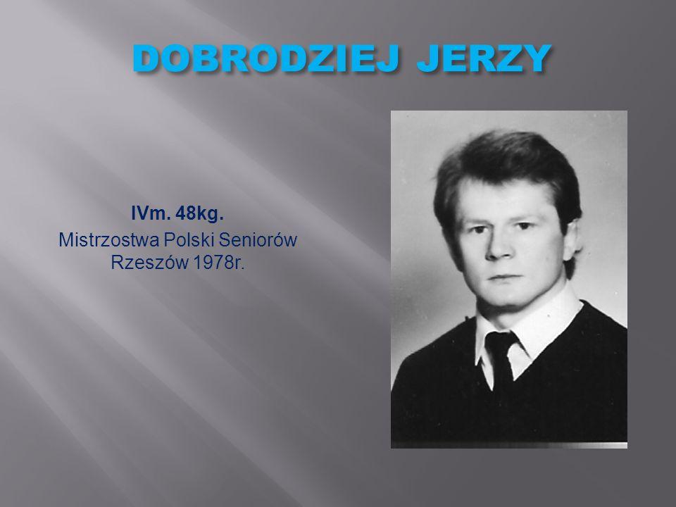 Mistrzostwa Polski Seniorów Rzeszów 1978r.