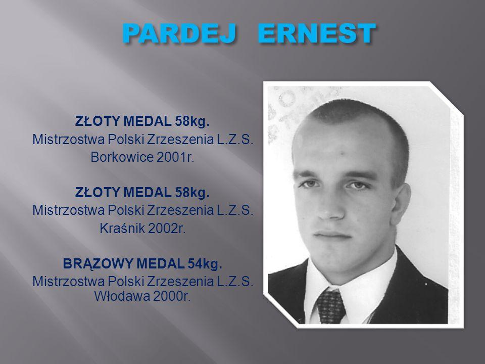 PARDEJ ERNEST ZŁOTY MEDAL 58kg. Mistrzostwa Polski Zrzeszenia L.Z.S.