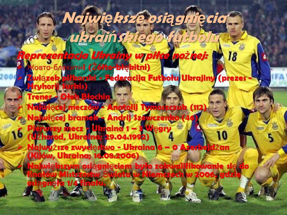 Największe osiągnięcia ukraińskiego futbolu