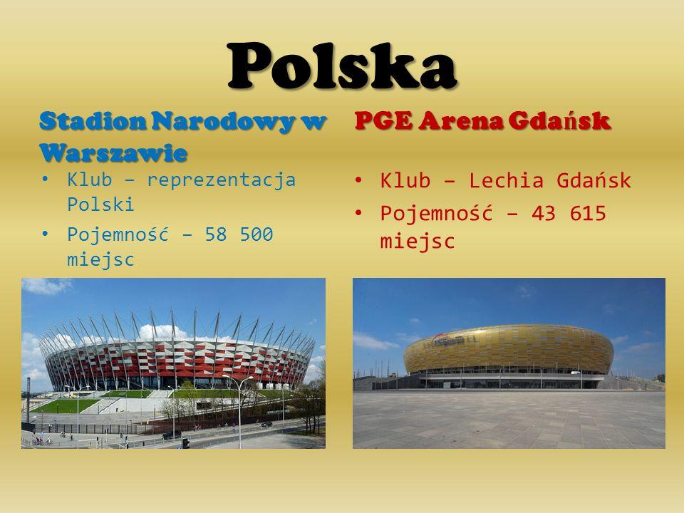 Polska PGE Arena Gdańsk Stadion Narodowy w Warszawie