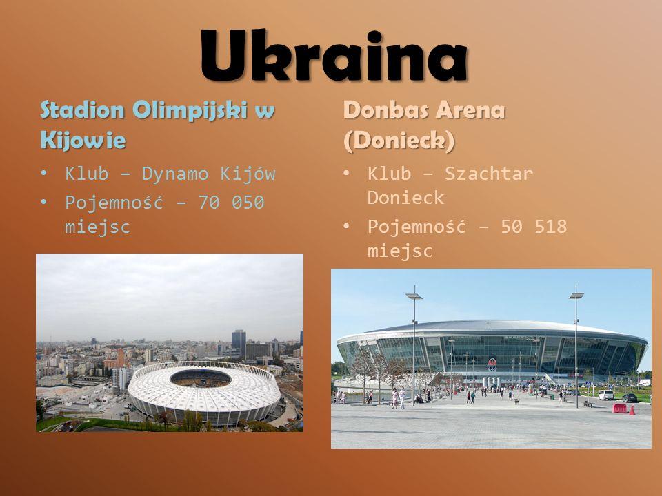 Ukraina Stadion Olimpijski w Kijowie Donbas Arena (Donieck)
