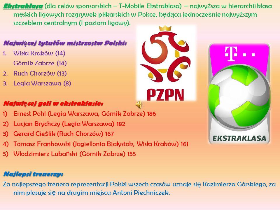 Ekstraklasa (dla celów sponsorskich – T-Mobile Ekstraklasa) – najwyższa w hierarchii klasa męskich ligowych rozgrywek piłkarskich w Polsce, będąca jednocześnie najwyższym szczeblem centralnym (I poziom ligowy).