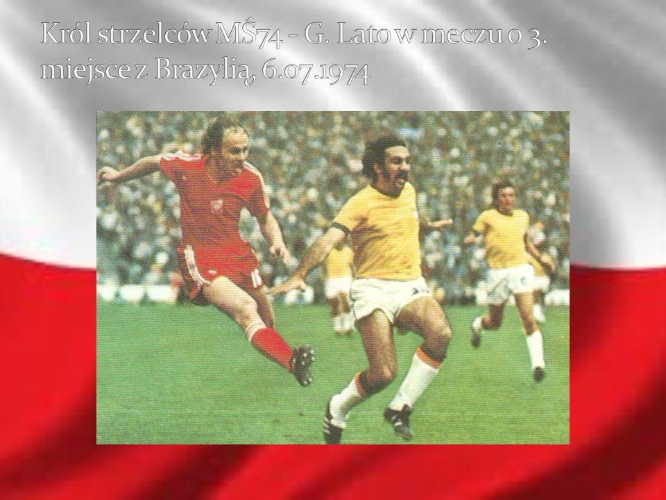 Król strzelców MŚ74 - G. Lato w meczu o 3. miejsce z Brazylią, 6. 07
